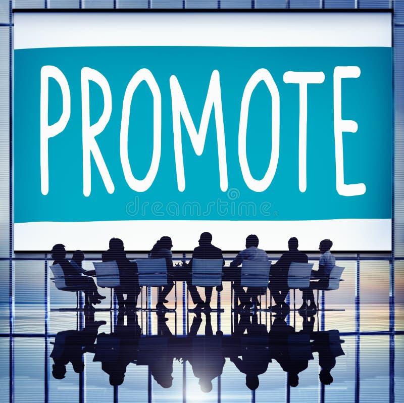Promova o conceito de produto do mercado do anúncio do comércio ilustração royalty free