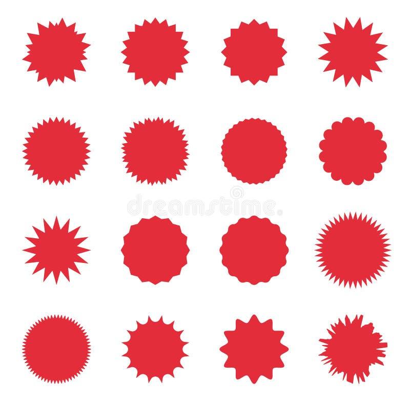 Promoverkauf starburst, Sonderangebotverkaufsaufkleber, Sonnendurchbruch Promoumbau vektor abbildung