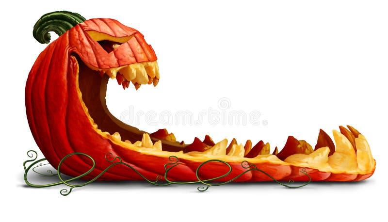 Promozione di Halloween della zucca royalty illustrazione gratis