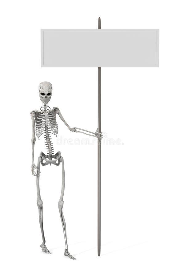 Promozione di scheletro illustrazione di stock