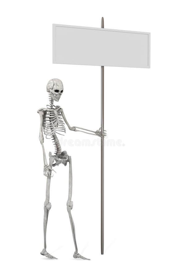 Promozione di scheletro illustrazione vettoriale