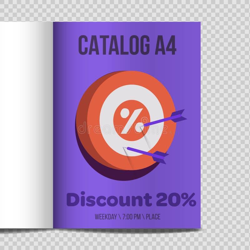Promozione veloce dell'illustrazione dello strato del catalogo A4 di vettore illustrazione vettoriale