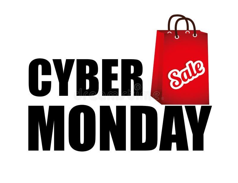 Promozioni cyber e vendite di commercio elettronico di lunedì illustrazione vettoriale