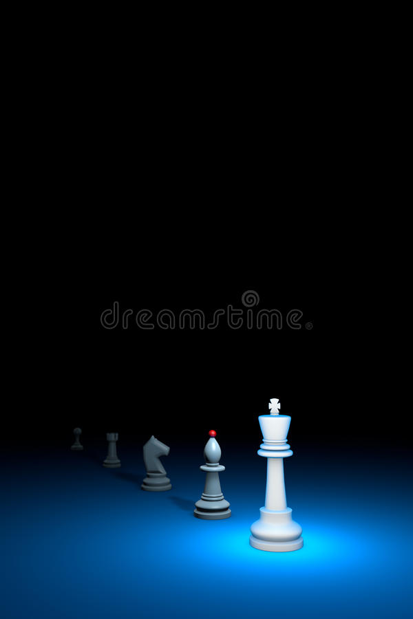 Prompt career (chess metaphor). 3D render illustration. Free spa. Career growth. Vertical chess composition. Available in high-resolution and several sizes to vector illustration