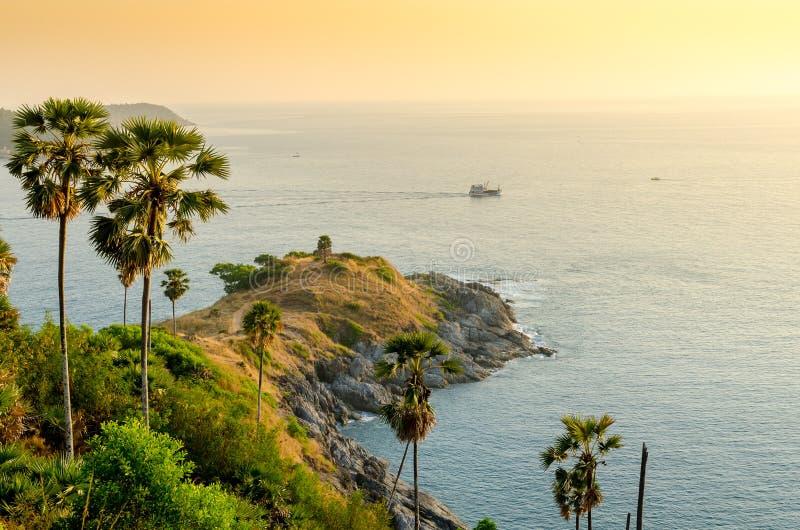 Promthep przylądek, Phuket, Tajlandia (Laem bal Thep) fotografia stock