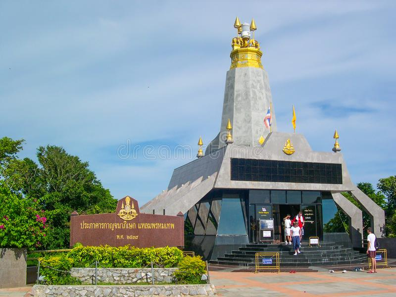 Promthep przylądka latarnia morska w Phuket, Tajlandia obraz stock