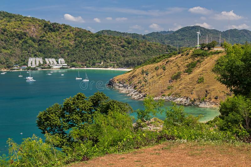 Promthep udde på den Phuket ön i Thailand, Asien arkivfoton