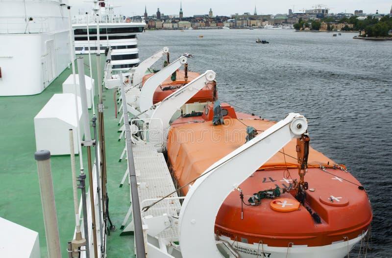 Promu Viking linii oszczędzania łódź Czerwiec 20, 2018, Sztokholm, Szwecja obraz royalty free