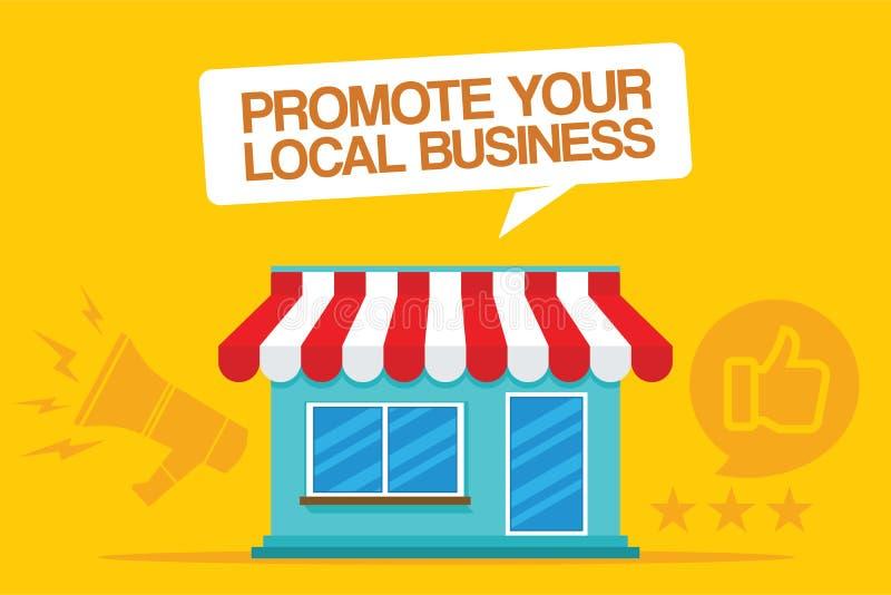 Promuje twój lokalnego biznes ilustracja wektor