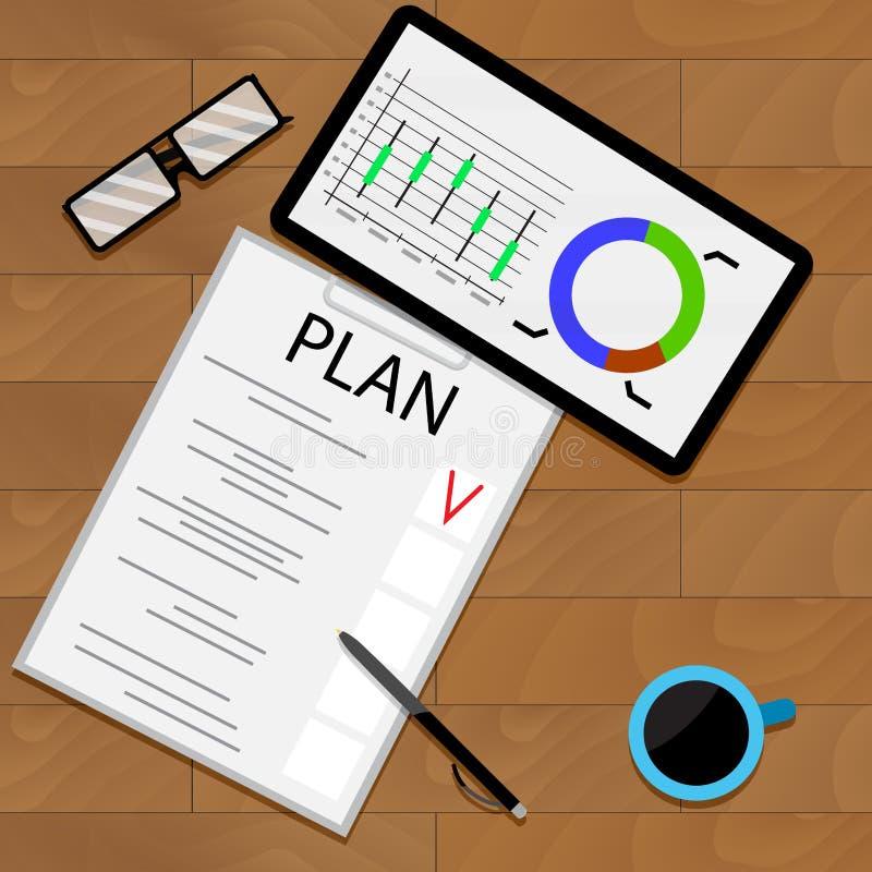 Pronóstico estadístico de planificación libre illustration