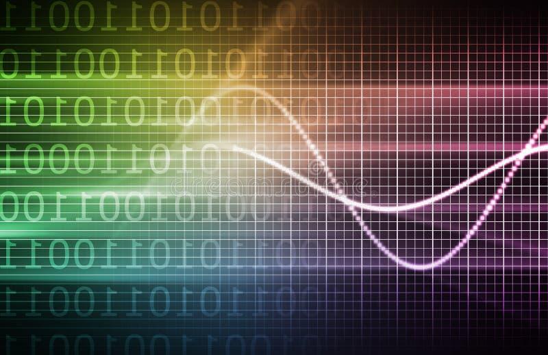 Pronóstico púrpura de la tecnología ilustración del vector
