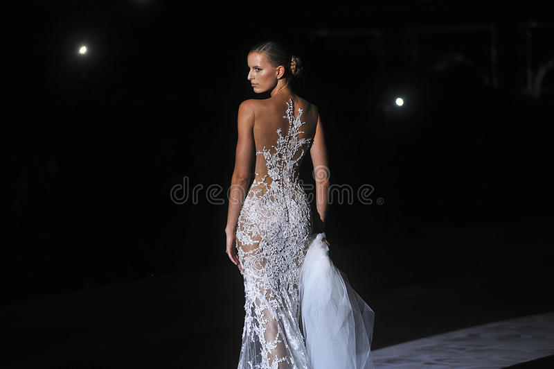 Pronovia 2014 Barcelona Bridal week royalty free stock photography