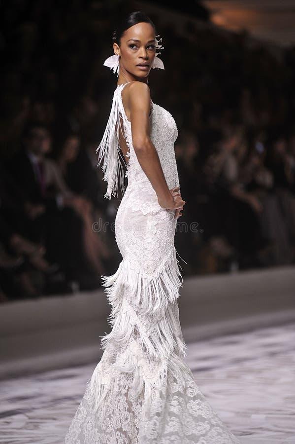 Pronovia 2014 Barcelona Bridal week royalty free stock photo
