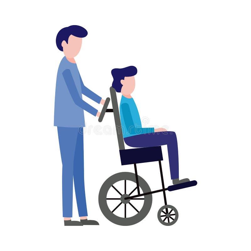 Pronto soccorso di vettore, infermiere di emergenza e paziente illustrazione di stock