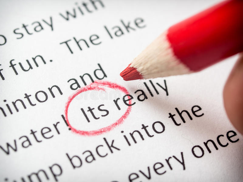 Download Proofreading its error stock image. Image of class, english - 35290763