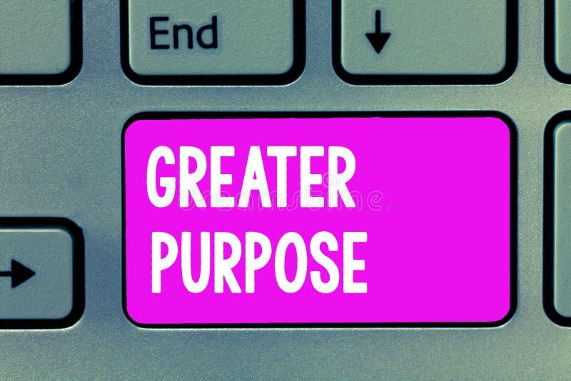 Propósito del texto de la escritura de la palabra mayor Concepto del negocio para Extend en la media que conforma la orden moral  imagenes de archivo