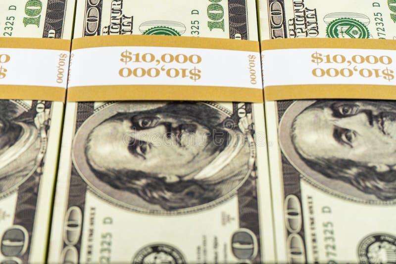 Prop Money Dollars Volledige oude afdrukstijl 100 Dollar Bills for Movies, Advertising, Play, Fake, Party, Supreme Spray, Gun Can royalty-vrije stock foto