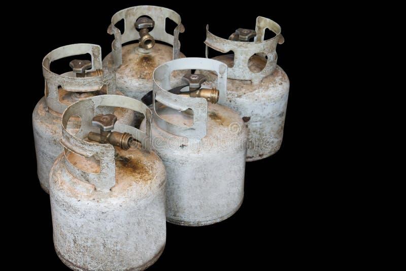 Propaancilinders die kokende brandstof houden stock afbeeldingen