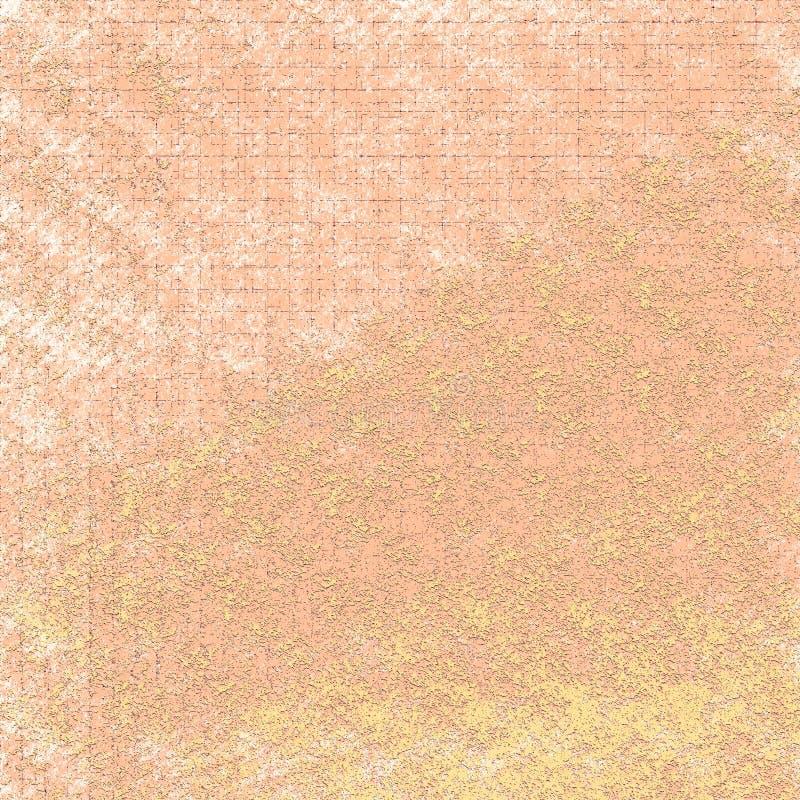 Propagação seca da cor do pó no fundo sujo Os remendos ásperos textured a arte finala ilustração do vetor