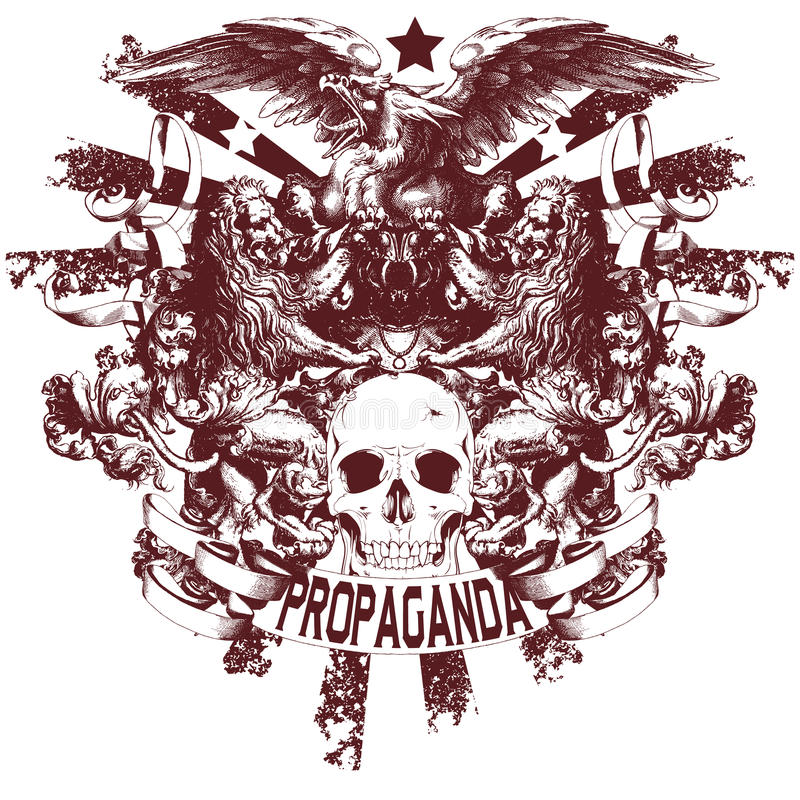 Propaganda ilustração royalty free