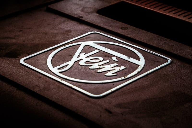 Propaganda comercial do logotipo das ferramentas elétricas de Fein imagens de stock royalty free