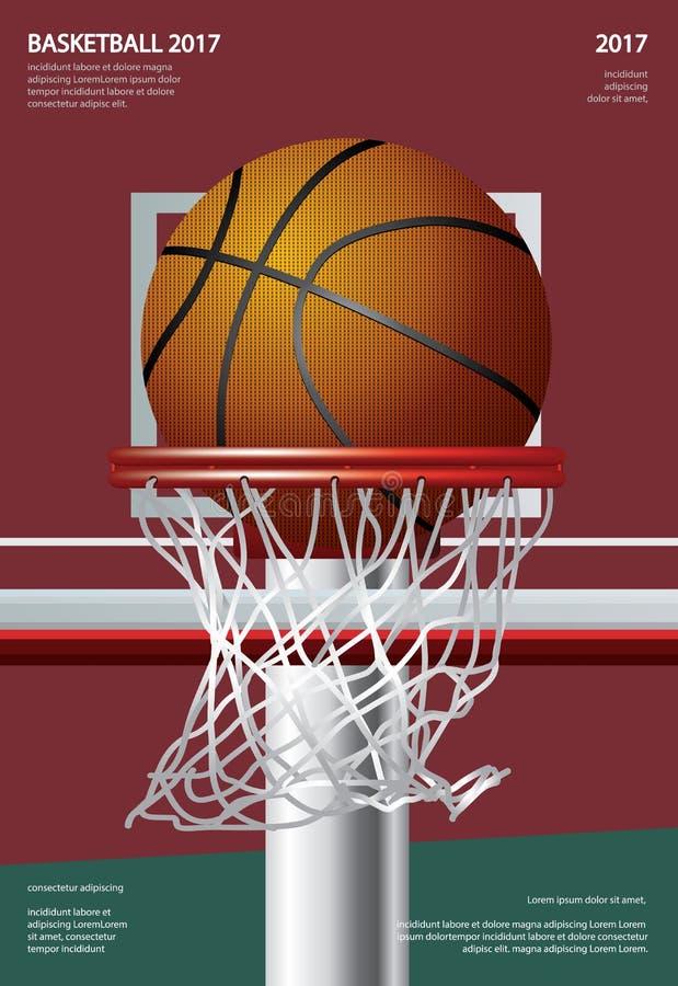 Propaganda de cartaz do basquetebol ilustração stock