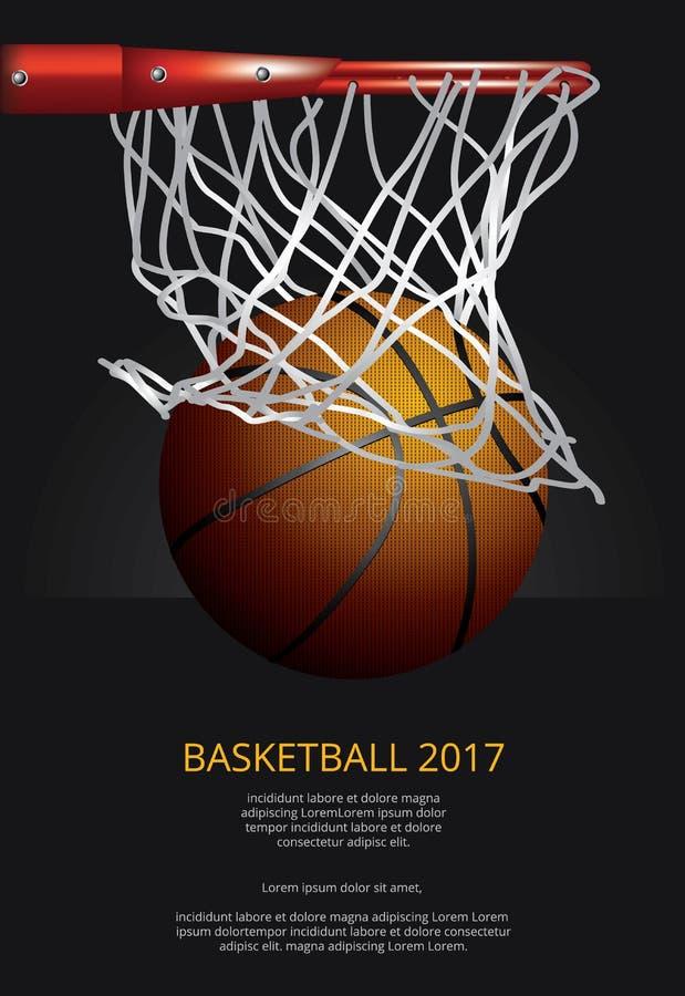 Propaganda de cartaz do basquetebol ilustração royalty free
