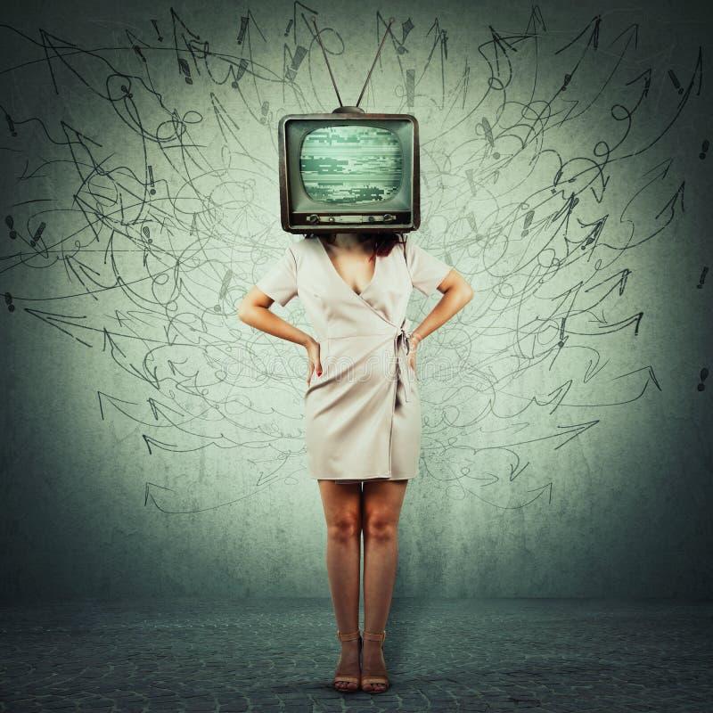 Propaganda de la televisión foto de archivo libre de regalías