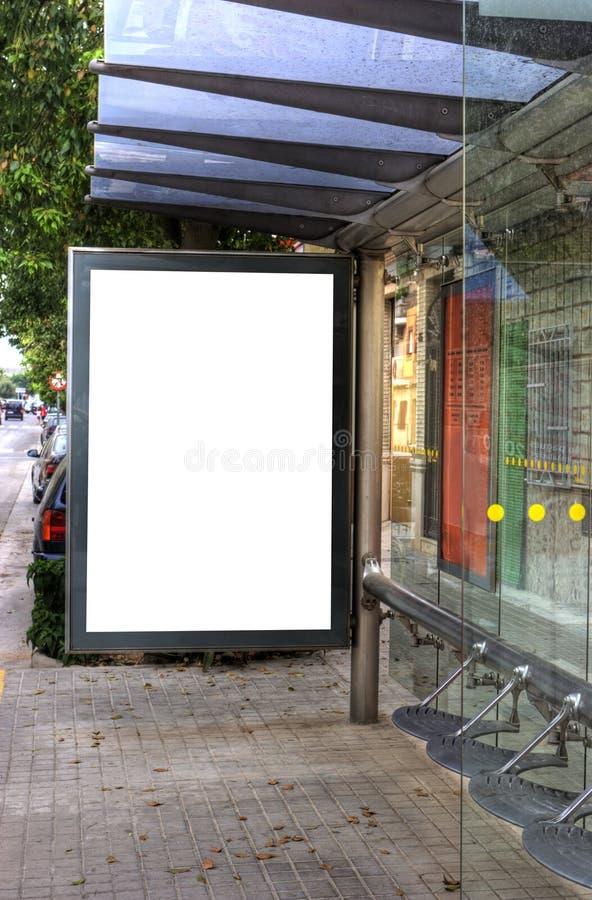Propaganda do paragem do autocarro foto de stock