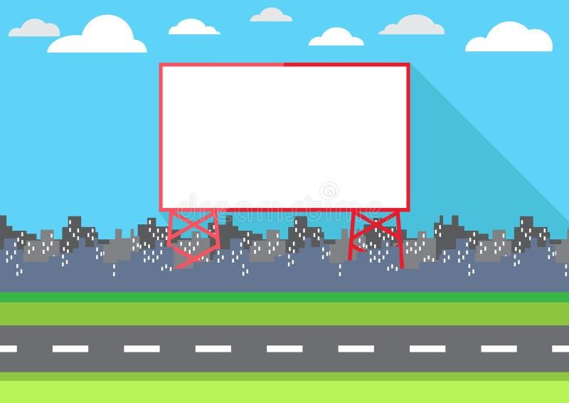 Propaganda do quadro de avisos dos desenhos animados ilustração royalty free