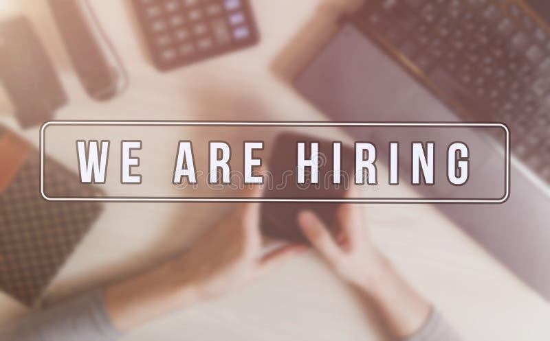 Propaganda do recruta para vagas de trabalho, procurando candidatos para contratar para oportunidades de negócio imagens de stock