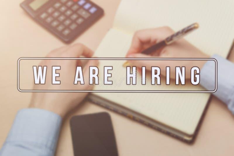 Propaganda do recruta para vagas de trabalho, procurando candidatos para contratar para oportunidades de negócio imagem de stock royalty free