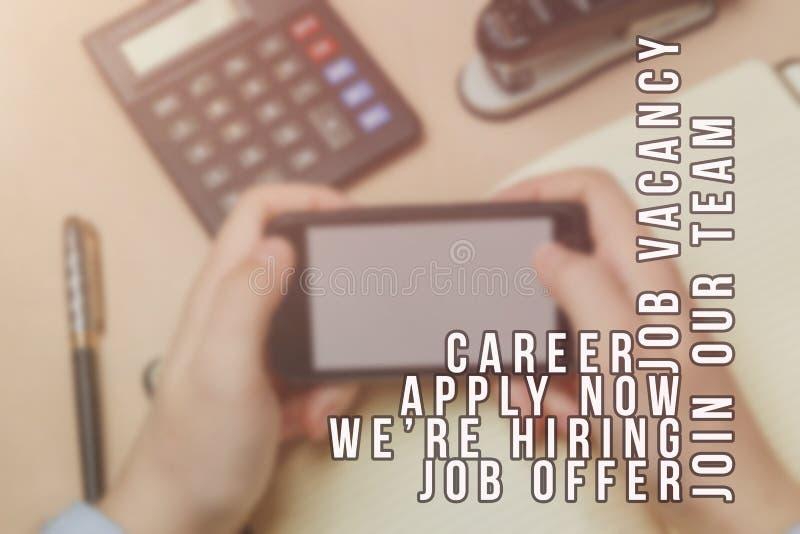 Propaganda do recruta para vagas de trabalho, procurando candidatos para contratar para oportunidades de negócio fotos de stock royalty free