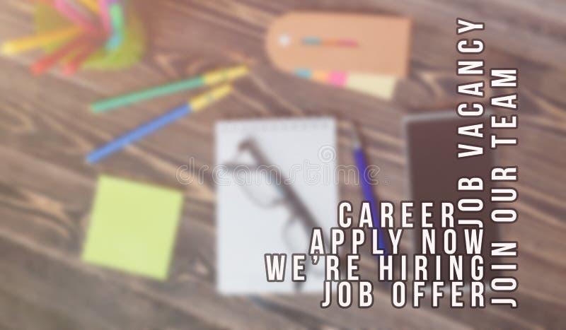 Propaganda do recruta para vagas de trabalho, procurando candidatos para contratar para oportunidades de negócio ilustração do vetor