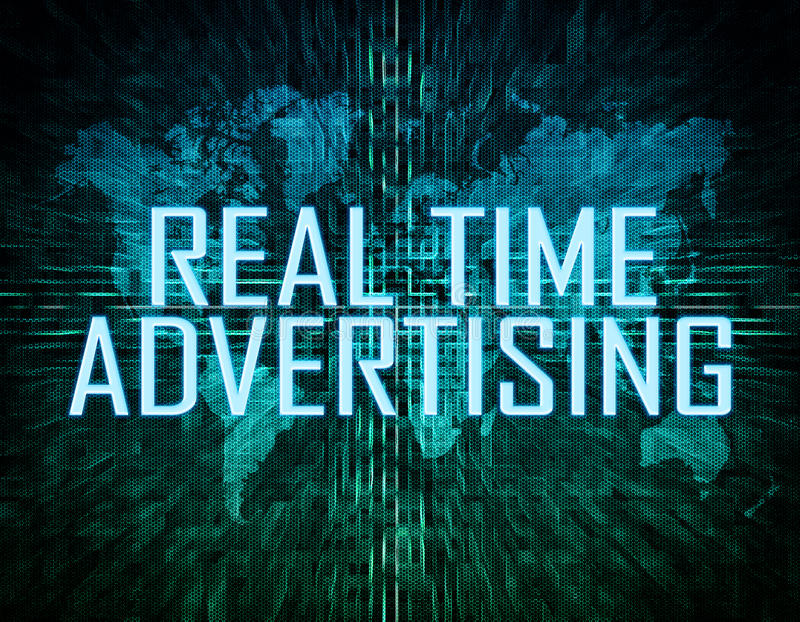 Propaganda do tempo real imagem de stock