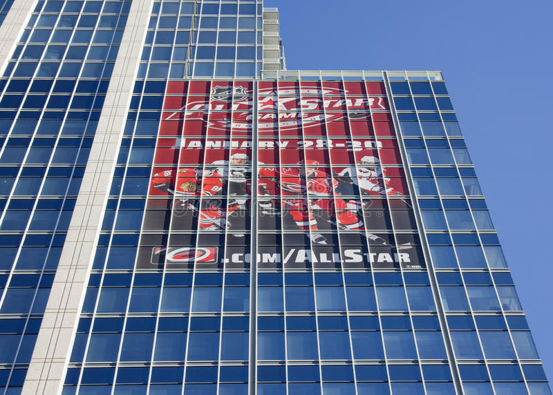 Propaganda para o NHL 2011 todo o jogo da estrela foto de stock