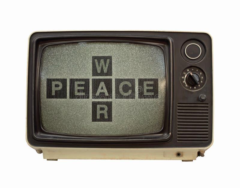 Propaganda tv royalty free stock photo