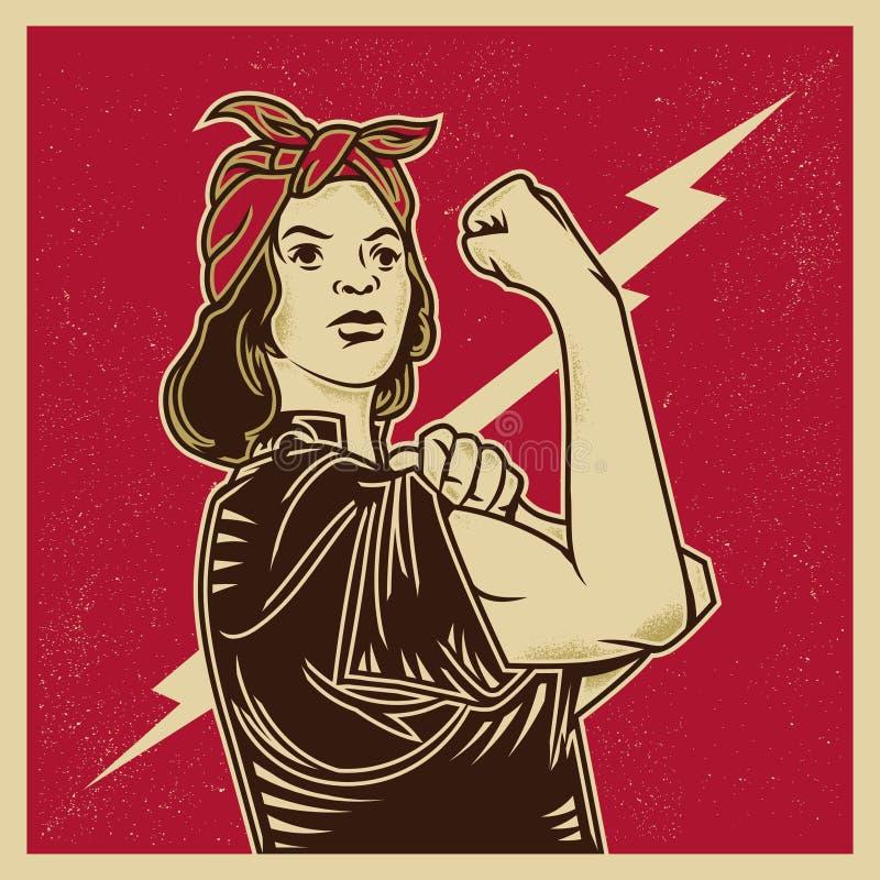 Propagandafeminism royaltyfri illustrationer