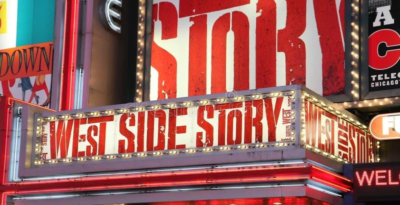Propagandas da mostra de Broadway fotografia de stock royalty free