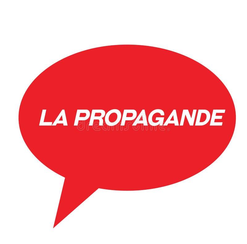 Propagandastempel auf französisch stock abbildung