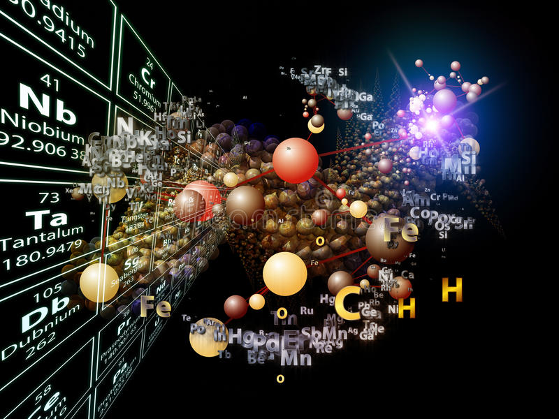 Propagation Of Chemical Elements Stock Photos