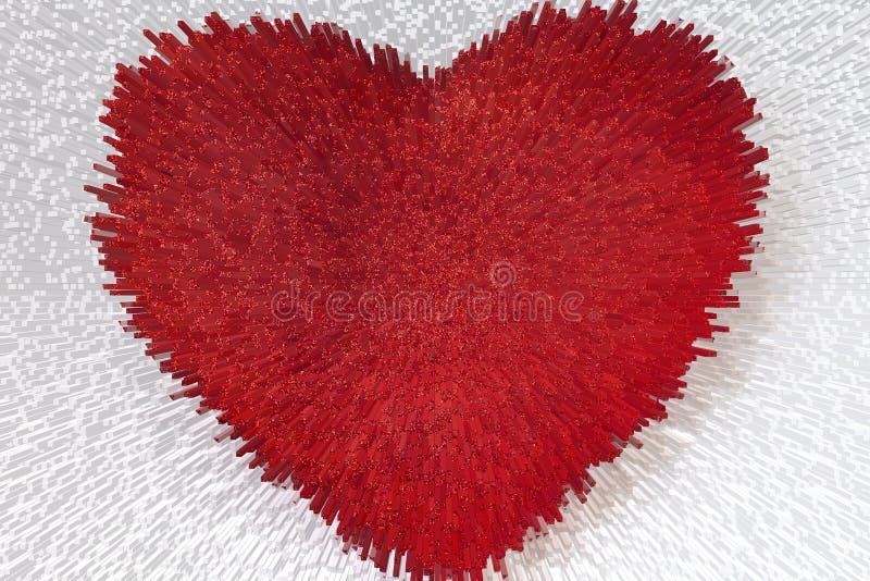 Propagation d'amour et de santé de coeur illustration stock