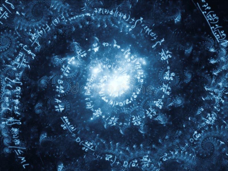 Propagation de vortex de maths illustration de vecteur
