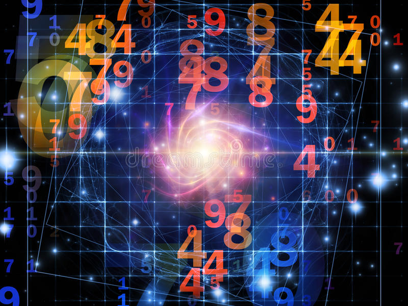 Download Propagation of Numbers stock image. Image of blue, line - 28240833