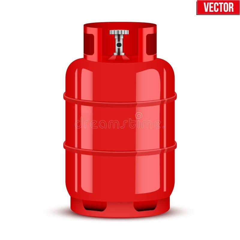 Propan Benzynowa butla również zwrócić corel ilustracji wektora ilustracja wektor