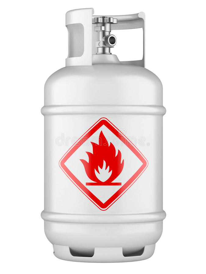 Propane cylinders with compressed gas royalty free illustration