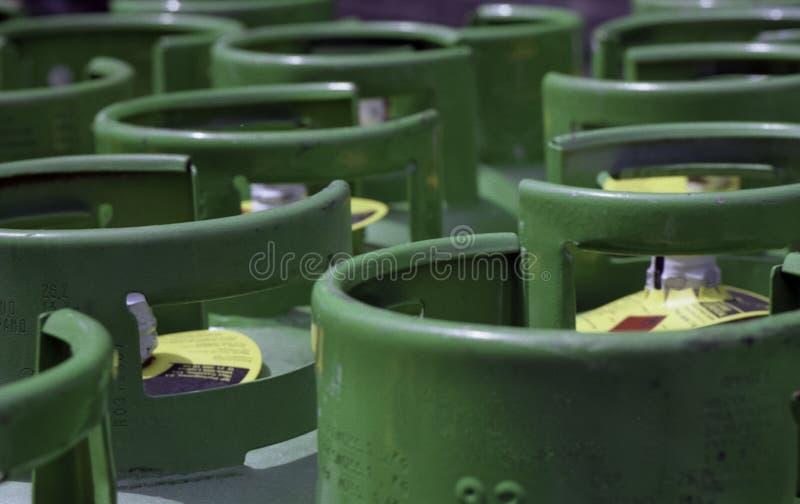 Propane gas cylinders stock photo