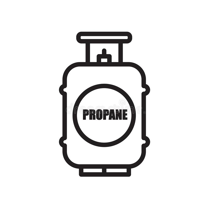 Propane tank icon isolated on white background. For your web and mobile app design vector illustration