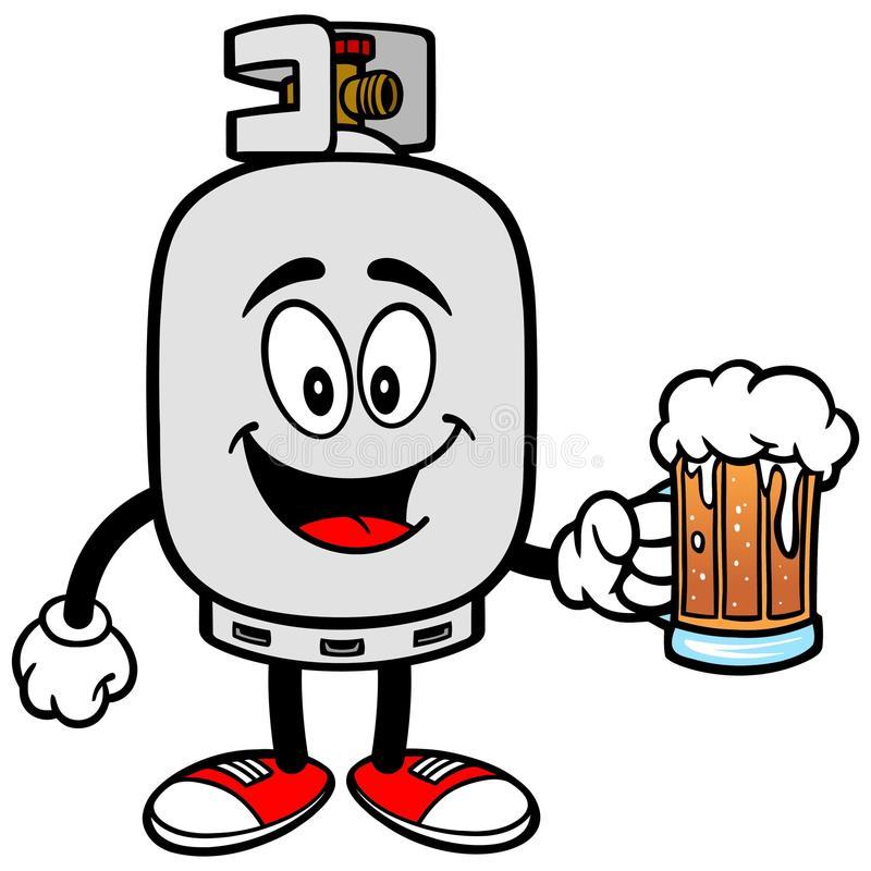 Free Propane Tank With A Beer Royalty Free Stock Images - 69118279