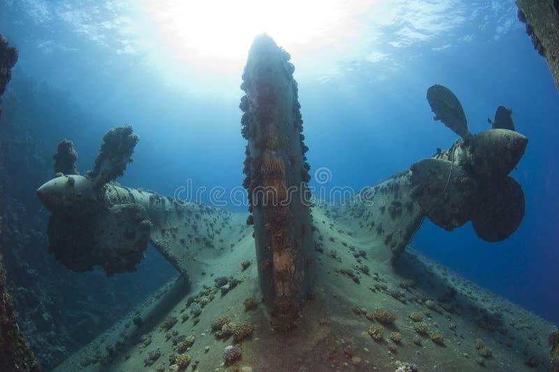 Propeller auf einem Schiffswrack stockbilder